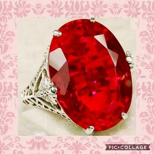 Jewelry - ❤️GORGEOUS VICTORIAN DESIGN 12 CT OVAL RUBY RING❤️